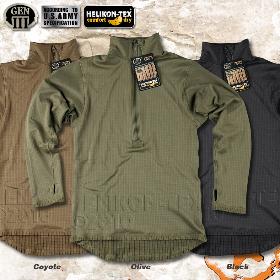 HELIKON LONG SLEEVE THERMAL SHIRT, MILITARY ARMY SPEC. WARM ...