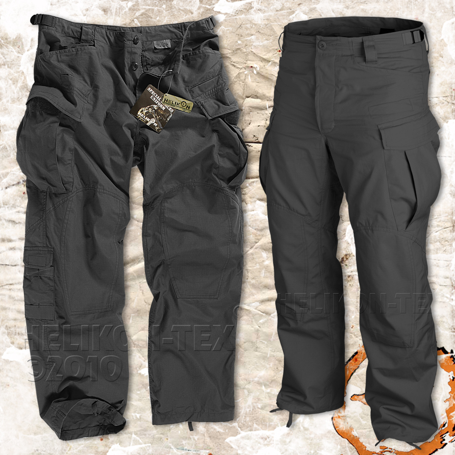 HELIKON MENS SPECIAL FORCES (SFU) TROUSERS, ARMY COMBAT CARGO ...