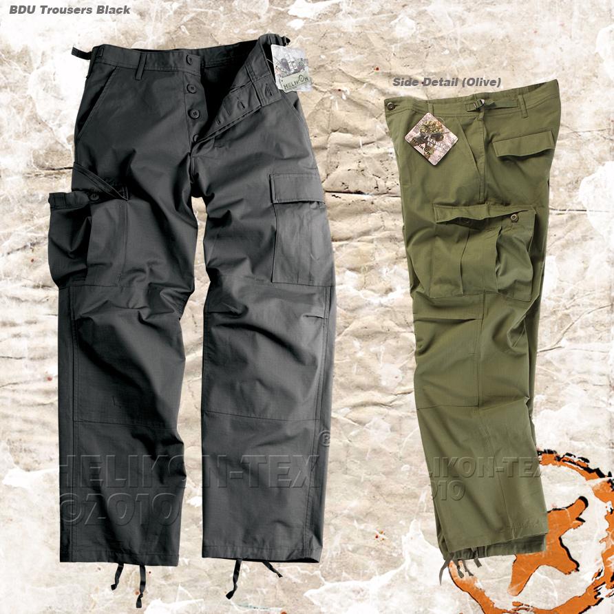 HELIKON BATTLE DRESS (BDU) TACTICAL TROUSERS, ARMY COMBAT CARGO ...
