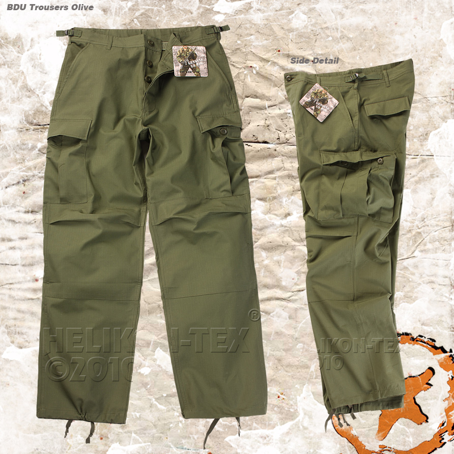 Helikon Battle Dress Bdu Tactical Trousers Army Combat Cargo Pants Olive Ebay
